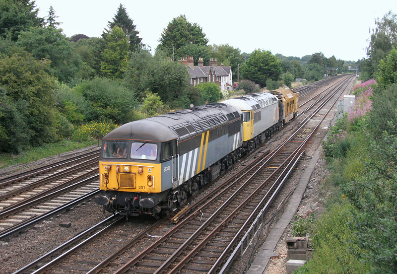 56301 Worting Junction 28/07/14 6Z56 Chaddesden to Totton with 56311