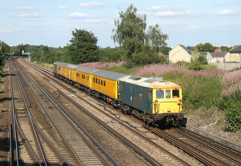 73201 Worting Junction 29/07/14 1Q05 Hither Green to Eastleigh with 73207 on the rear