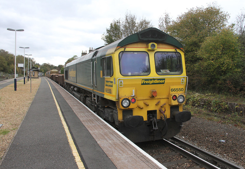 66550 Micheldever 26/10/14 6C07 Worting Junction to Eastleigh D.C.S. waiting to be released from the possession