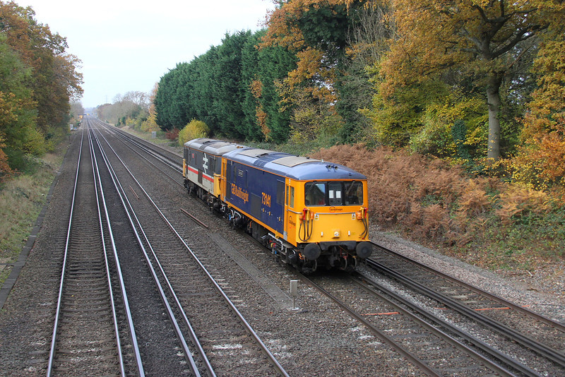 73141 Old Basing 02/12/13 0Y62 Eastleigh to Tonbridge with 73205