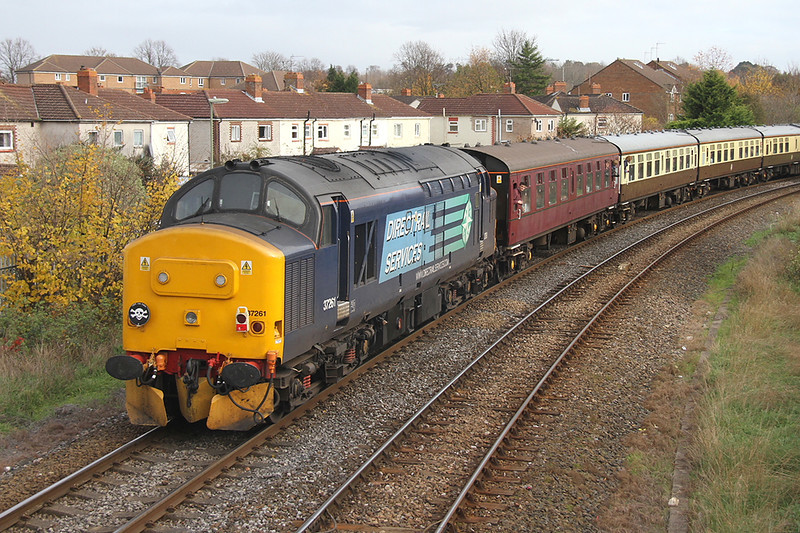 37261 Eastleigh 30/11/13 on the rear of 1Z42 Whitchurch to Eastleigh