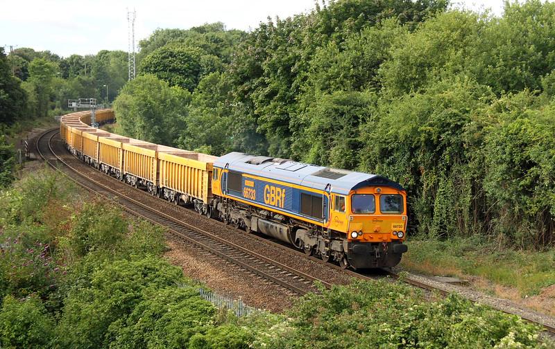 66733 Daneshill 29/07/15 6M26 Eastleigh to Mountsorell