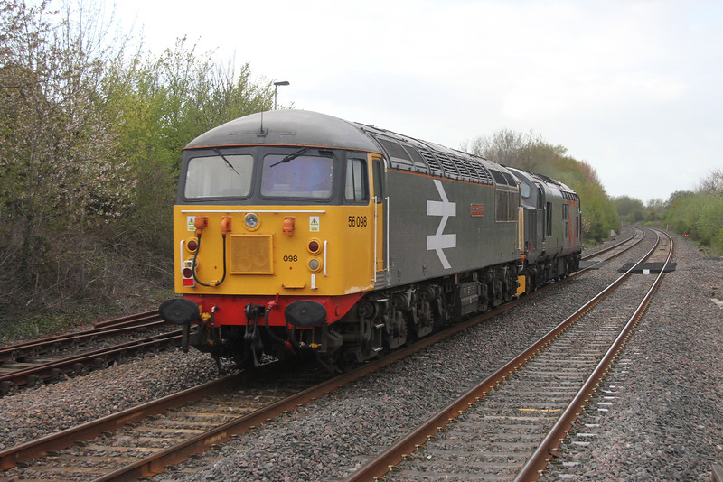 56098 Yate 02/05/16 on the rear of 0Z37 Bristol St Philips Marsh to Leicester
